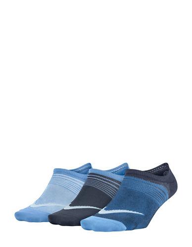 Nike Three-Pack Logo Cotton Liner Striped Socks Set-MULTI-Medium