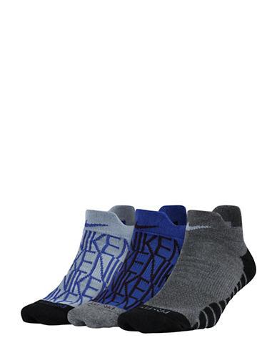 Nike Three-Pack Dry Cushion GFX Low Training Socks-MULTI-Medium