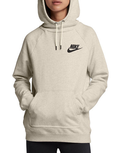 Nike Womens Sportswear Rally Hoodie-BEIGE-Medium