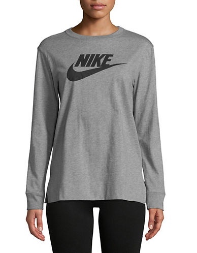 Nike Sportswear Long-Sleeve Cotton Tee-GREY-Medium 90018164_GREY_Medium