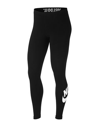 Nike Sportswear Leg-A-See Leggings-BLACK-X-Small