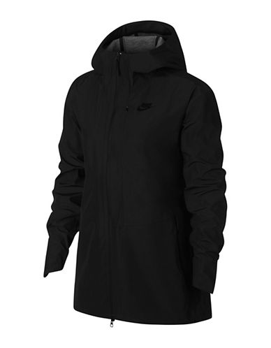 Nike Zip-Up Hooded Jacket-BLACK-Large 89894898_BLACK_Large
