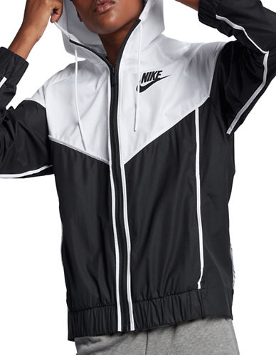 Nike Sportswear Windrunner Jacket-BLACK/WHITE-Medium
