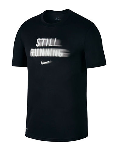 Nike Fast Life Dry Running Tee-BLACK/WHITE-Small 89848124_BLACK/WHITE_Small