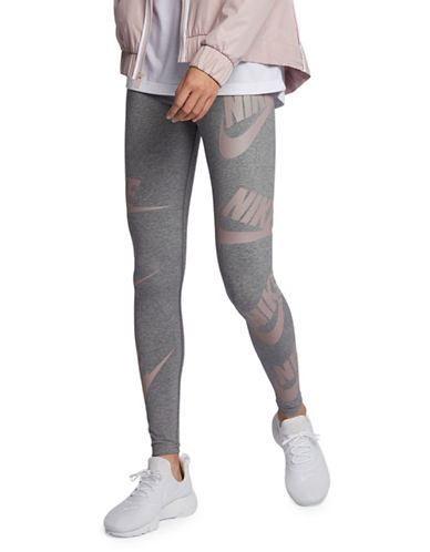 Nike Two-Tone Leggings-GREY-X-Small 90018996_GREY_X-Small
