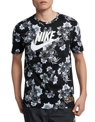Nike Sportswear Graphic Cotton T-Shirt-BLACK/WHITE-X-Large 90029994_BLACK/WHITE_X-Large