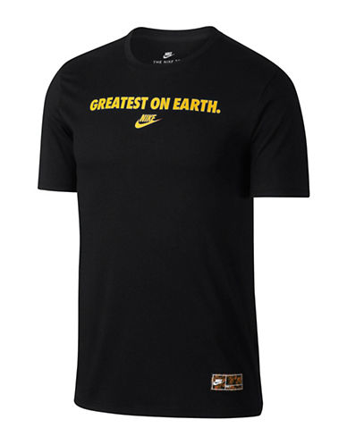 Nike Greatest On Earth Sportswear Cotton T-Shirt-BLACK-XX-Large 90030005_BLACK_XX-Large