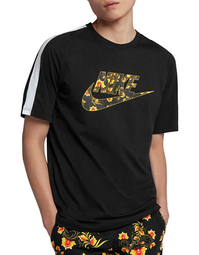 Nike Sportswear Cotton T-Shirt-BLACK/YELLOW-XX-Large 90030010_BLACK/YELLOW_XX-Large