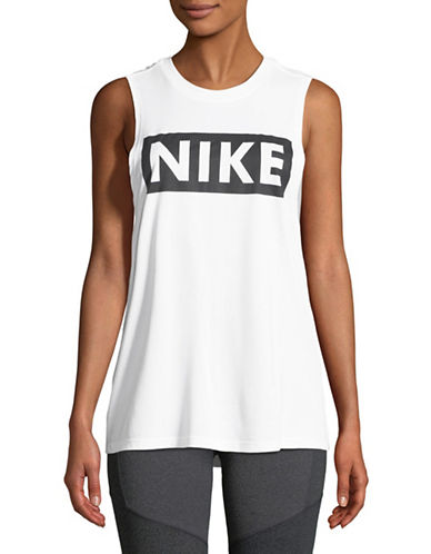 Nike Dri-Fit Training Tank Top-WHITE-Small