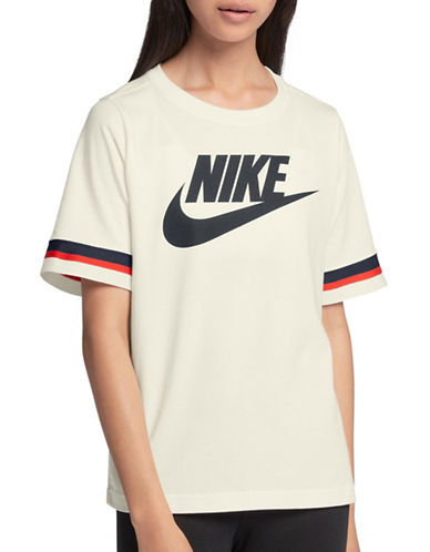 Nike Logo Sportswear Top-WHITE-Large