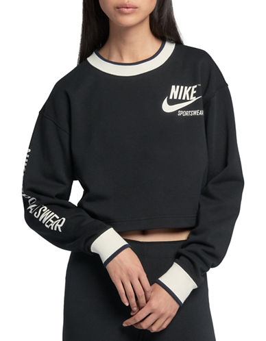 Nike Long Sleeve Sportswear Crew-BLACK-Medium 89904025_BLACK_Medium