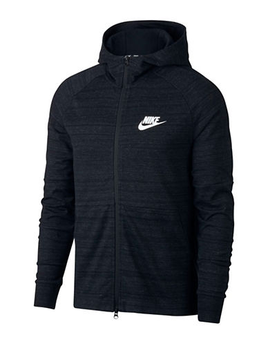 Nike Sportswear Advance 15 Heathered Hoodie-BLACK-X-Large