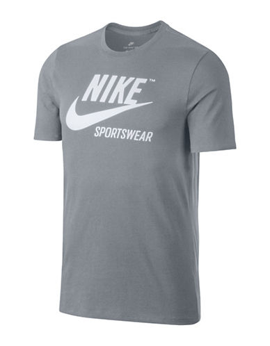 Nike Sportswear Cotton Tee-GREY-XX-Large