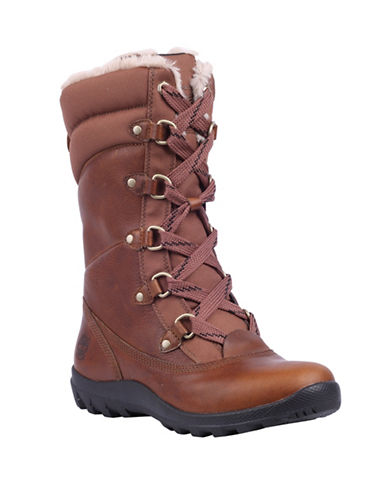 Timberland Mount Hope Leather Boots-DARK BROWN-9