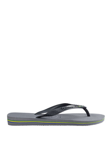 Havaianas Brasil Flip Flops-GREY-45/46