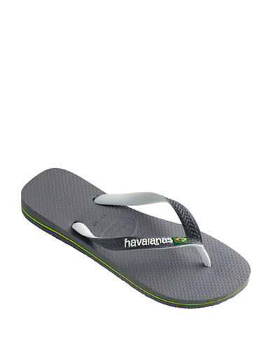Havaianas Flag Embossed Flip Flop Sandals-GREY-EU 41/US 8