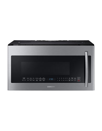Samsung Me21k7010ds Ac 2 1 Cu Ft Over The Range Microwave With Grill Stainless Steel