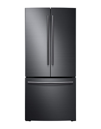 Rf220nctasgaa 216 Cuft French Door Refrigerator Black Stainless