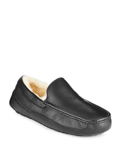 Ugg Ascot Slippers-BLACK-11