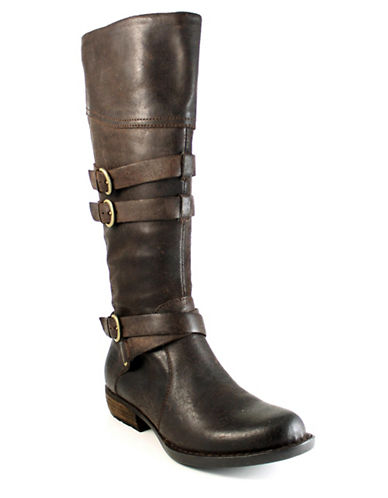 Born Odom Leather Riding Boots-DARK BROWN-7