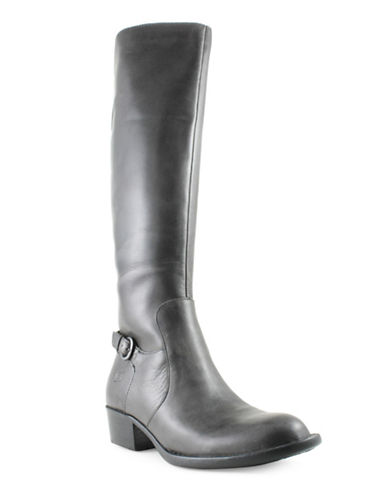 Born Helen Tall Premium Leather Riding Boots-GREY-5