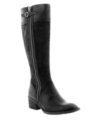 Born Poly Buckle Boots-BLACK-9