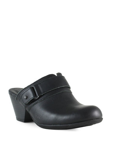 B.O.C. Born Cheradi Leather Clogs-BLACK-9
