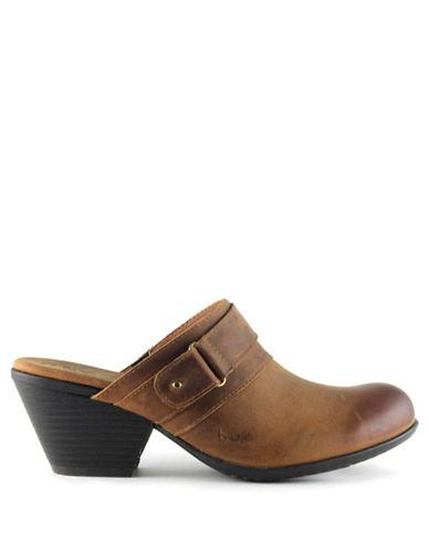 B.O.C. Born Cheradi Leather Clogs-TAUPE-9