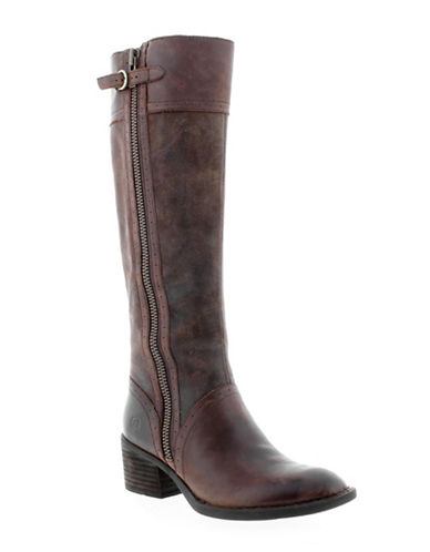Born Poly Buckle Boots-BROWN-9