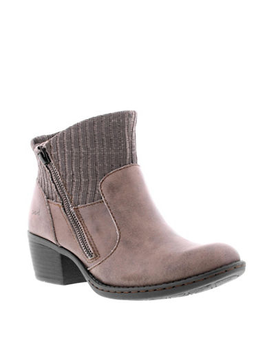 B.O.C. Born Bendell Suede Booties-BROWN-6