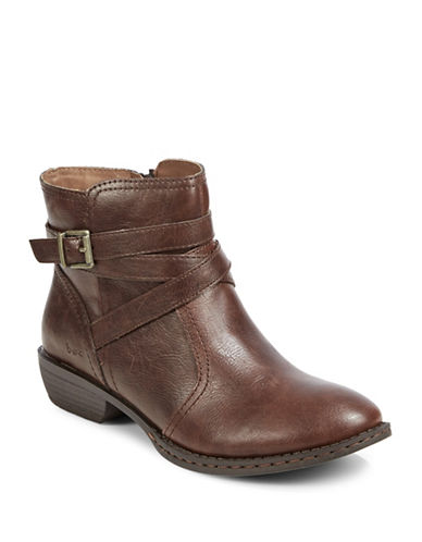 B.O.C. Born Delavigne Ankle Buckle Boots-COFFEE-6