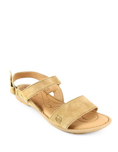 Born Tagum Distressed Leather Sandals-TAN-6