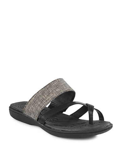 B.O.C. Born Gould Basketweave Sandals-BLACK-7