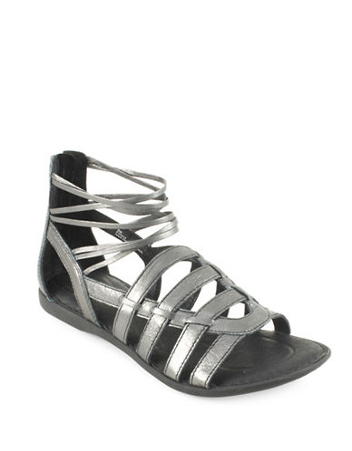 Born Angeles Leather Caged Sandals-ANTHRACITE-8