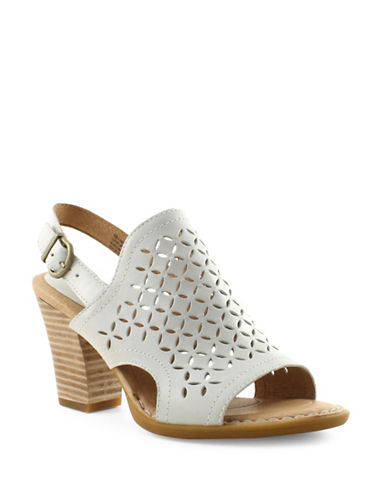 Born Rosa Leather Sandals-WHITE-9