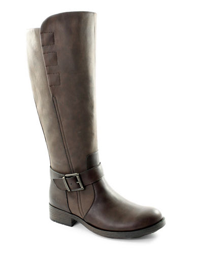 B.O.C. Born Knee-High Riding Boots-DARK BROWN-9.5