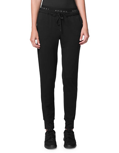 Koral Los Angeles Station Cotton Sweatpants-BLACK-Large 89967921_BLACK_Large