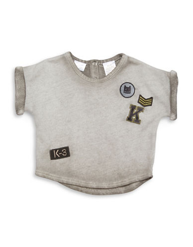 Kardashian Kids Overdyed Loose Fit Tee-GREY-3 Months
