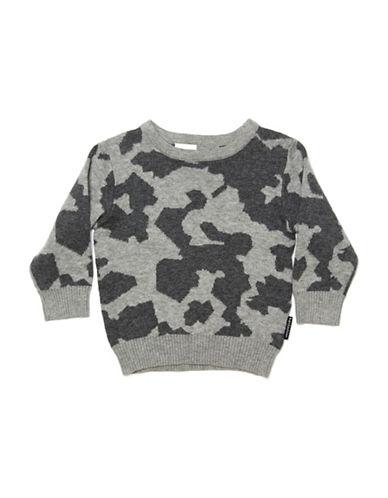 Kardashian Kids Camo Intarsia Sweater-GREY-3 Months