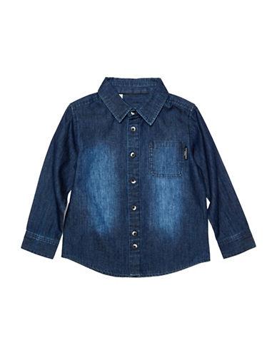 Kardashian Kids Oversized Chambray Shirt-BLUE-5-6