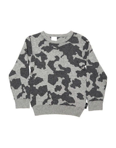 Kardashian Kids Fashion Intarsia Sweater-GREY-5-6