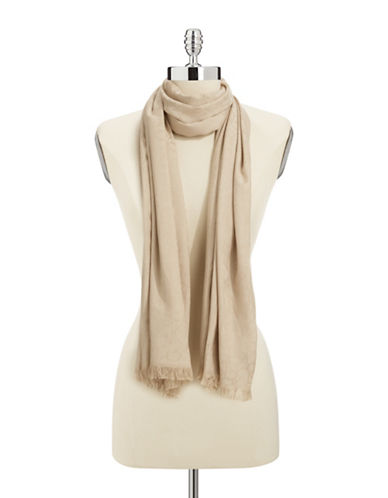 Calvin Klein Logo Jacquard Pashmina-BROWN-One Size