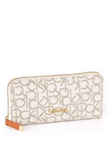 Calvin Klein Logo Wallet-ALMOND/KHAKI-One Size