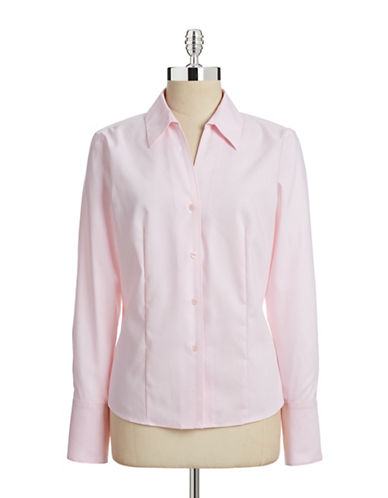 Calvin Klein Easy Care Non-Iron Shirt-PINK-4