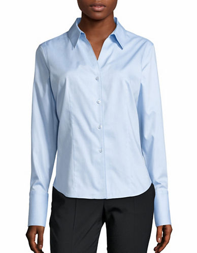 Calvin Klein Easy Care Non-Iron Shirt-BLUE-2