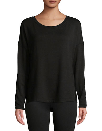 Calvin Klein Performance Long-Sleeve Top-BLACK-X-Large