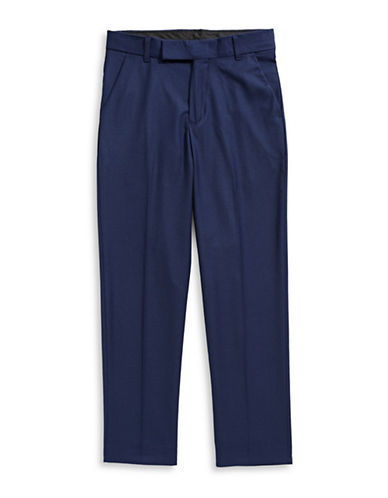 Calvin Klein Wool Blend Modern Suit Pants-BLUE-18