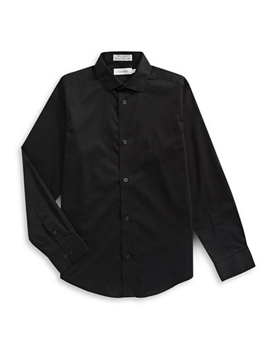 Calvin Klein Modern Fit Stretch Shirt-BLACK-10
