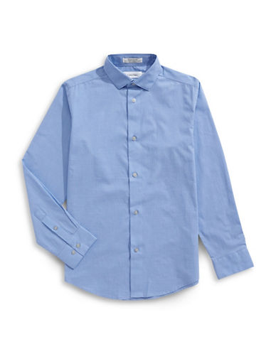 Calvin Klein Modern Fit Checkered Shirt-BLUE-8