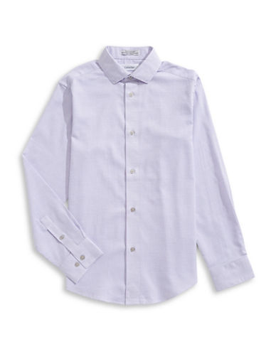 Calvin Klein Modern-Fit Woven Dress Shirt-PURPLE-10